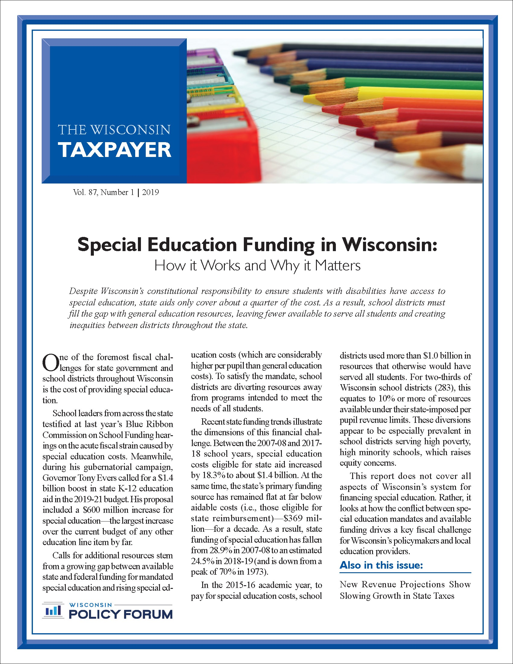 Why Does Special Education Have To Be >> Wisconsin Policy Forum Special Education Funding In Wisconsin